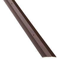 Порог алюминиевый 19А 0,9 метра венге 3х40мм скрытое крепление