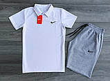 Мужские Комплекты Nike Поло (футболка) +шорты, фото 2