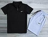 Мужские Комплекты Nike Поло (футболка) +шорты, фото 3