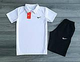 Мужские Комплекты Nike Поло (футболка) +шорты, фото 4