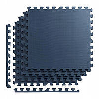 Мат-пазл (ласточкин хвост) 4FIZJO Mat Puzzle EVA 120 x 120 x 1 cм 4FJ0078 Graphite графитный
