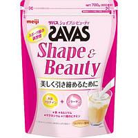 MEIJI SAVAS Shape & Beauty соевый протеин, рыбный коллаген , витамины, минералы 700 грамм 50 порций