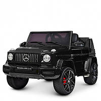 Детский электромобиль Машина Джип Mercedes черный для мальчика девочки 2 3 4 5 6 лет M 4280EBLR-1 2 мотора