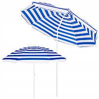 Пляжний парасольку з регульованою висотою та нахилом Springos 180 см BU0008