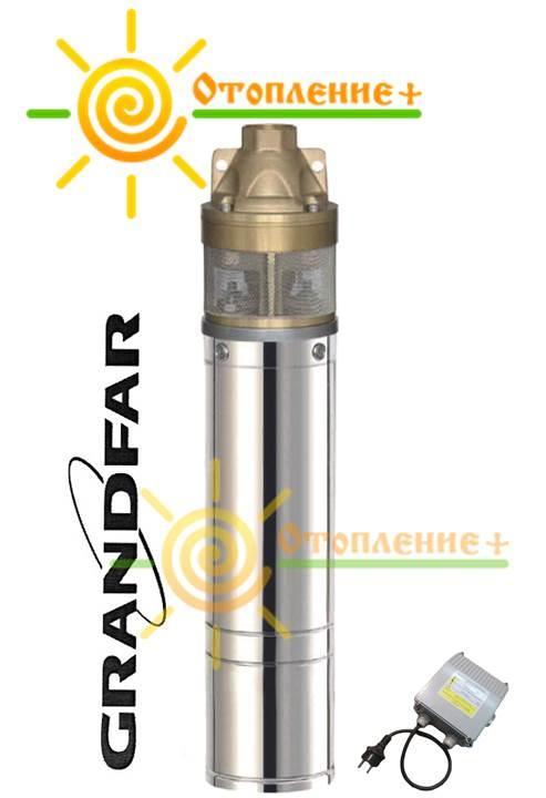 Насос скважинный вихревой GRANDFAR 4SKm100, 750 Вт, обмотка медь