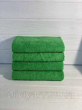 Простынь махровая 100% хлопок  зеленая, фото 2