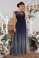 Черное вечернее платье с пышной юбкой в пол