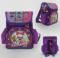 Рюкзак школьный каркасный С 43646 с 3 карманами, ортопедической спинкой и 3D принтом