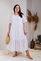 Свободное женское длинное платье  . Размеры 54, 56, 58