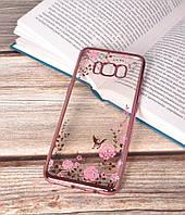 Чехол силиконовый TPU Glaze rose gold для Samsung Galaxy S8 Plus/G955