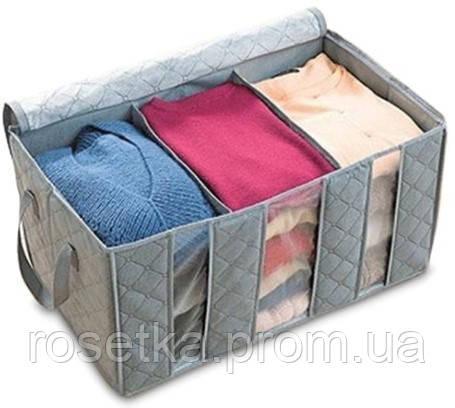 Органайзер для хранения одежды и обуви (на 3 секции), бамбуковый органайзер-кофр