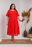 Свободное летнее  длинное платье  . Размеры 54, 56, 58