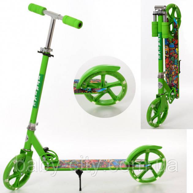 Детский 2-колесный складной самокат SR 2-010-1-GR-L, зеленый