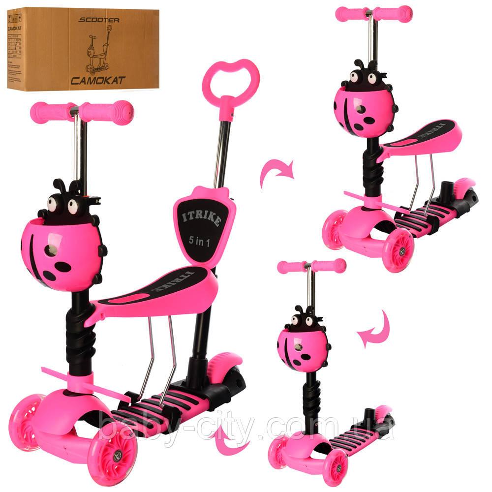 Детский самокат iTrike JR 3-026-P1 Розовый