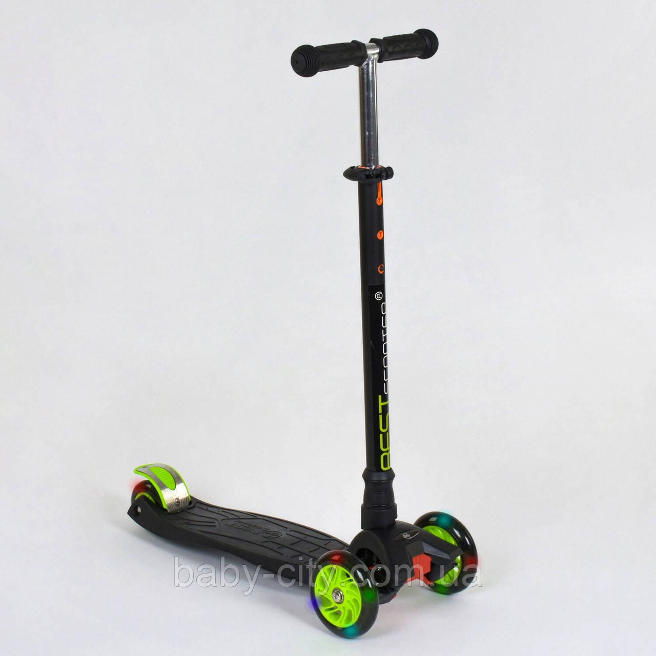 Самокат трехколесный Best Scooter Maxi 466-113 / А 24144 Черный