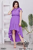 Женское воздушное летнее платье 48-52,54-58