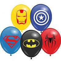 Латексные шары Супергерои и Игры