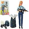 Лялька з вбранням DEFA 8388-BF шарнірна, поліція, сукні, 2 види, кор., 21,5-31,5-5 див.