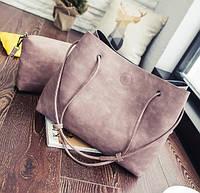 Женская сумка-шоппер с кошельком Luna pink