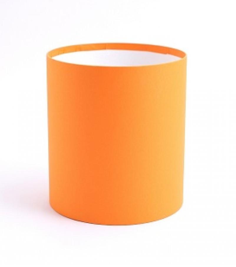 Круглая коробка без крышки, Оранжевай, Размер 118*140мм