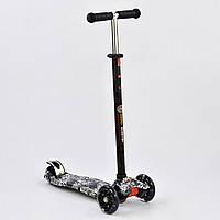 Самокат Best Scooter А 25465 /779-1320 MAXI, 4 колеса PU, свет, d=12 см, трубка руля алюминиевая, фото 1
