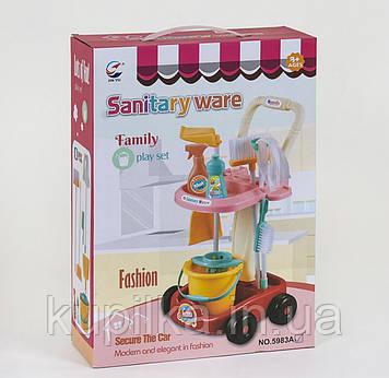 Детский набор для уборки 5983 А в тележке