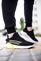 Мужские кроссовки Wonex в стиле Зоегор Трио, черные с желтым, летние, реплика