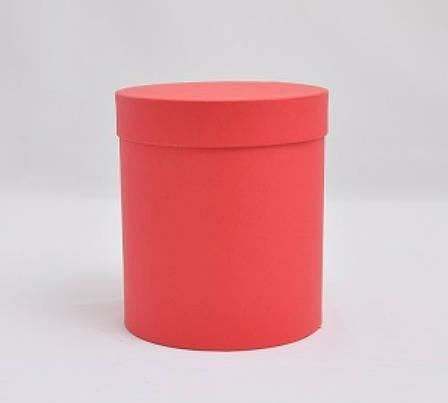 Круглая коробка с крышкой, Красная матовая, Размер 120*140мм, фото 2