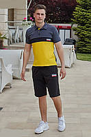 Літній чоловічий костюм з шортами, Чоловічий літній спортивний костюм, Чоловічий літній костюм, Чоловічий літній спортивний костюм, спортивний