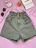 Шорты джинсовые Багги женские на резинке 25, 26, 27, 28, 29, 30, фото 4