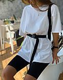 Женский костюм футболка велосипедки + пояс, фото 8