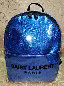 (30*23)Женский рюкзак SL Двухслойный(глитер+плёнка) качество городской стильный Популярный только опт