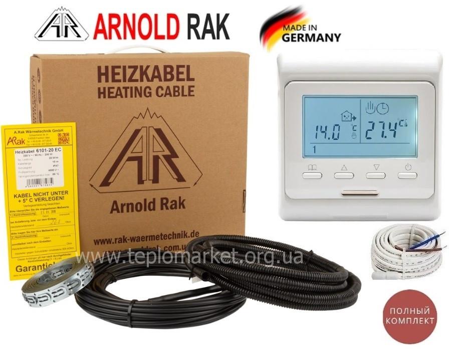Теплый пол электрический Arnold Rak 3м²-4,6м²/600Вт (30м) нагревательный кабель с терморегулятором E51