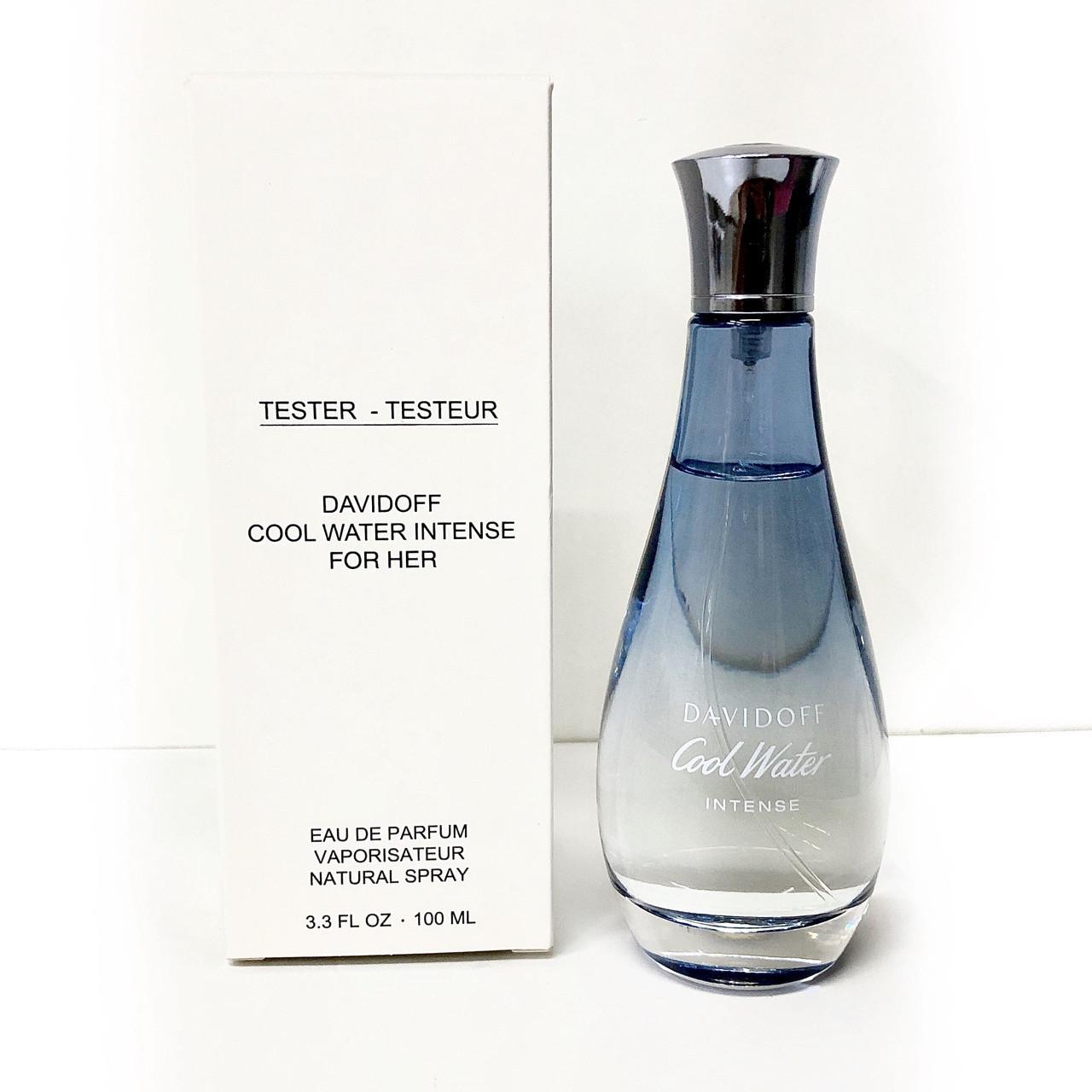100мл ТЕСТЕР жіночий річний екзотичний квітково-фруктовий аромат DAVIDOFF Cool Water For Her Intense