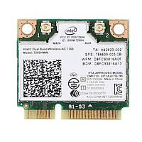 Wi-fi+BT модуль HalfSize Mini pcie Intel Wireless-AC 7260 (7260hmw) (784639-005) 802.11 b,g,n,ac 300 867Mbps