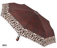 Зонт женский автомат коричневый с красным, фото 1