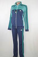 Спортивный женский костюм adidas бирюза/ синий