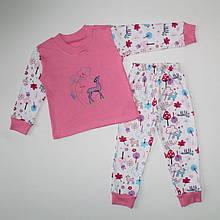 Піжама інтерлок для дівчинки з малюнком 92-116