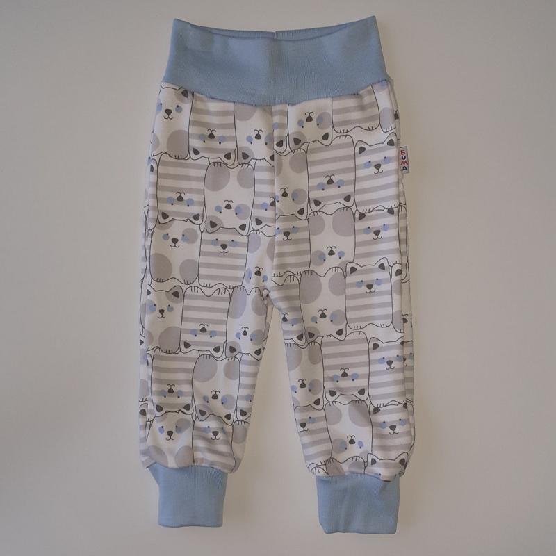 Штанці для немовлят інтерлок голубі 56-80 розміри