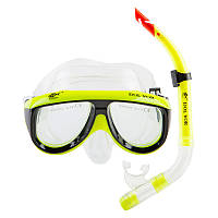 Набор для детей и подростков маска и трубка Dolvor М213 лимон
