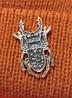 Брошь брошка значок металлический темно серый жук олень насекомое, фото 3
