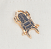 Брошь брошка значок металлический темно серый жук олень насекомое, фото 4