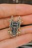 Брошь брошка значок металлический темно серый жук олень насекомое, фото 7