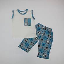 Піжама літня для хлопчика трикотаж з малюнком 92-116