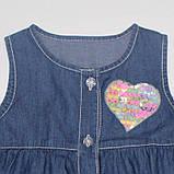 Джинсовий сарафан тонкий для дівчаток 1,5-4 років, фото 2