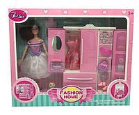 Кукла «Гардероб»  JX 200-96 (24/2) шкаф, питомец, аксессуары, в коробке