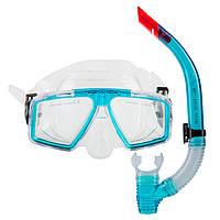Набор подростоковый маска и трубка Dolvor М4204Р голубой