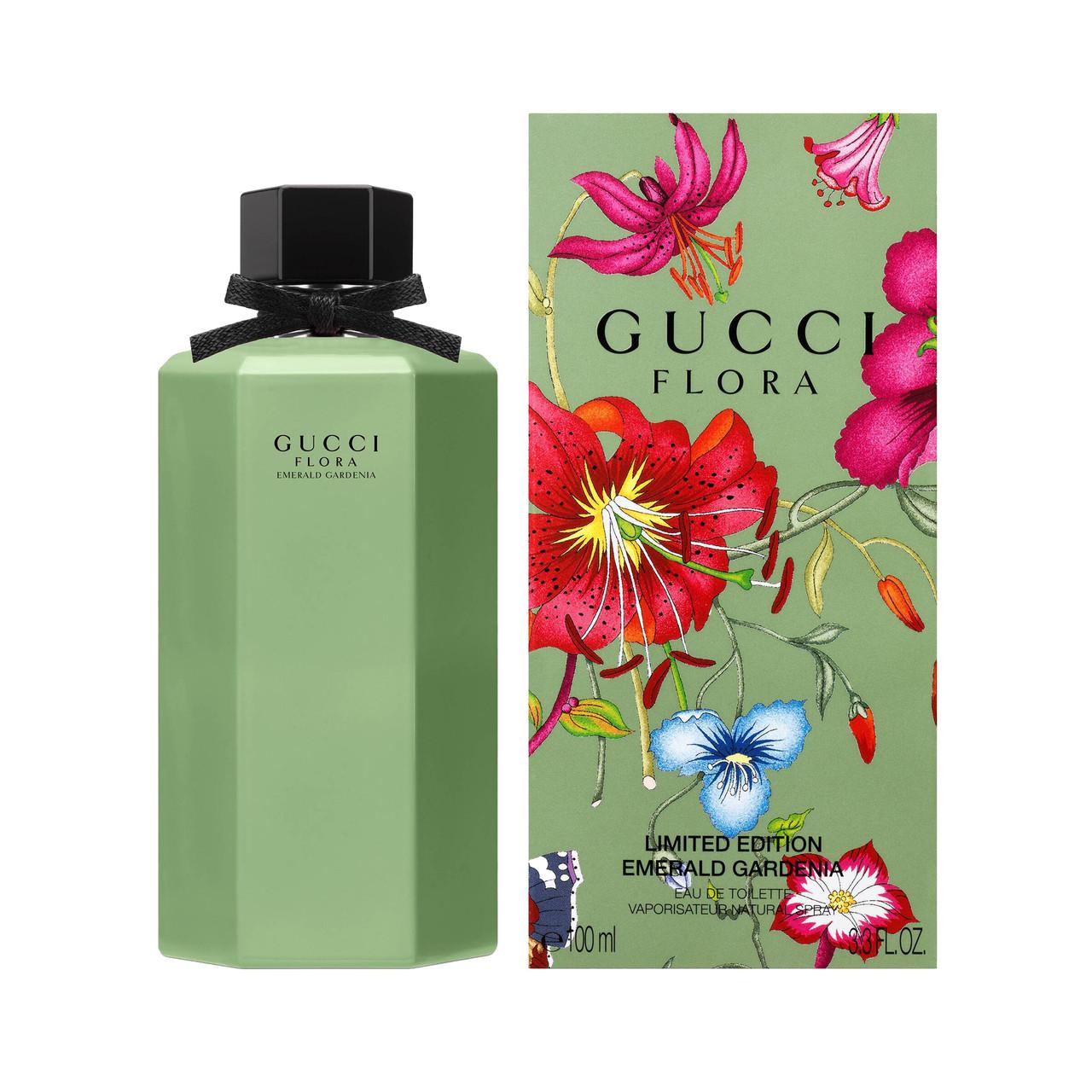 Гуччи новый аромат 2019 для женщин GUCCI Flora Emerald Gardenia 100мл летний цветочный парфюм ОРИГИНАЛ