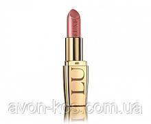 Увлажняющая губная помада LUXE AVON Lipstick  Lustering Nude -Камелия - бежево розовый