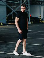 Комплект повседневный Шорты брючные + Футболка / Летний лук мужской ТОП качества, фото 1